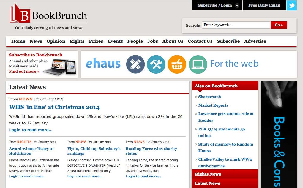 BookBrunch website screenshot