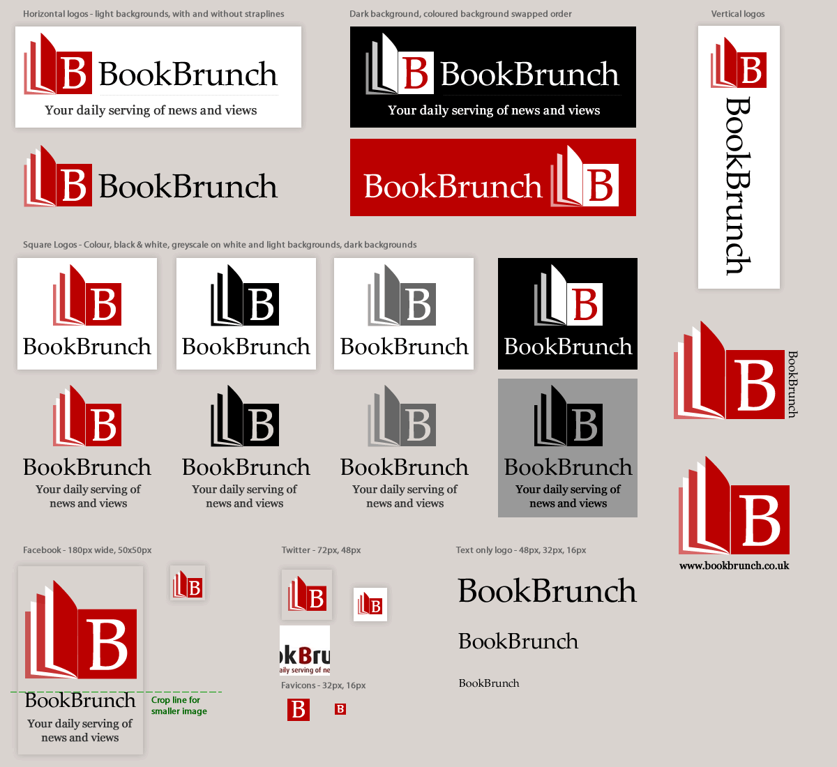 BookBrunch logo in different formats