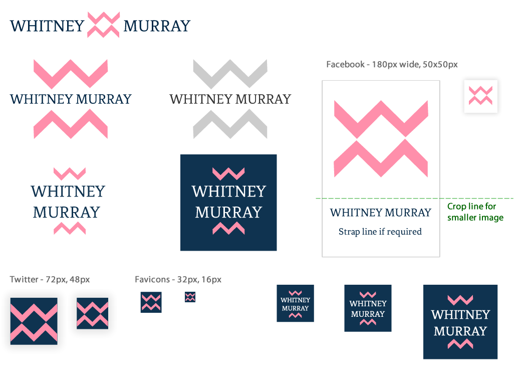 Final designs for Whitney Murray logo