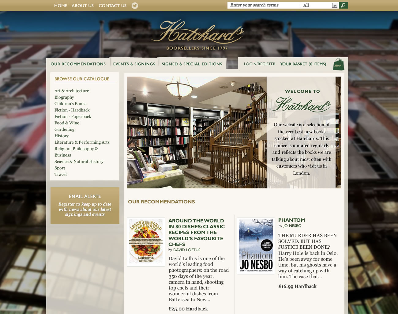 Hatchards e-commerce bookshop