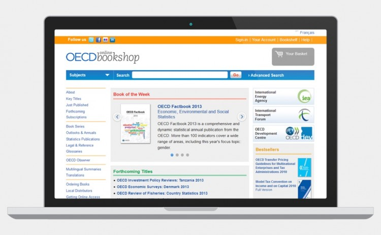 OECD Bookshop screenshot