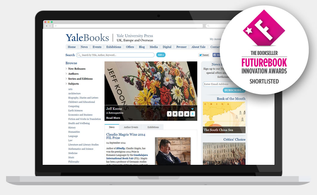 Yale Books Website - shortlisted for a Future Books Award