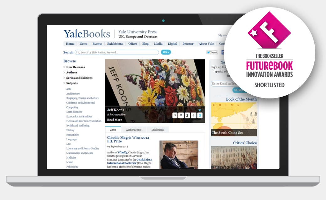 Yale Books website screenshot