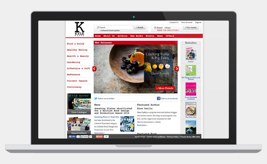 Kyle Books website sceenshot